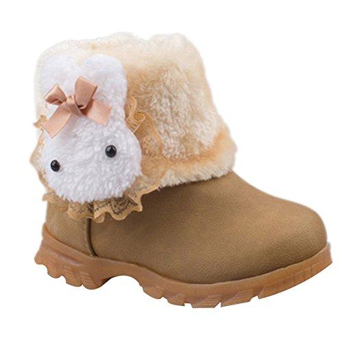 Größe Mädchen 13 Stiefel (Taiycyxgan Baby Mädchen Schuhe Winter Warm Süß Häschen Schnee Stiefel Kleinkind Boots( 9-90 Monate)