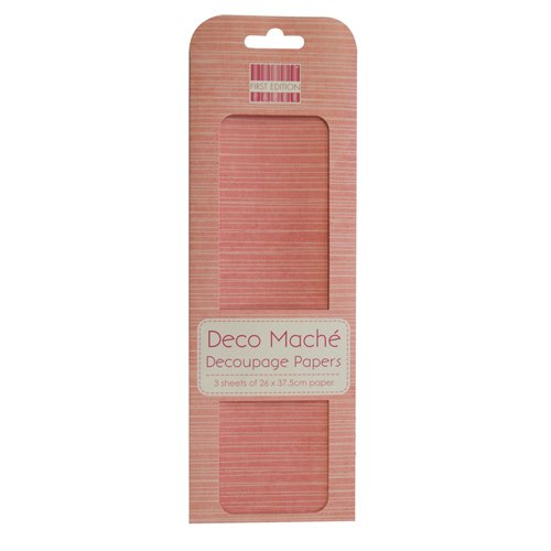 tessuto-rosa-deco-mache-x-3-fogli-di-carta-velina-di-craft-trimcraft