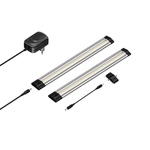 parlat LED Unterbau-Leuchte SIRIS, flach, je 30cm, 220lm, warm-weiß, 2er Set