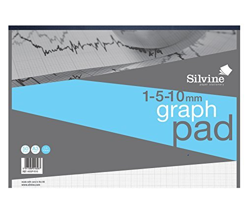 silvine-student-graph-pad-90gsm-1mm-5mm-10mm-grid-50-sheets-a3-a3gp1510-060-x-2940-x-4180-cm