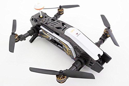 XciteRC 15003850 - FPV Racing Quadrocopter Furious 320 RTF mit Full HD Kamera, Videobrille Goggle V2, GPS, OSD, Akku, Ladegerät und Devo 10 Fernsteuerung, weiß - 5