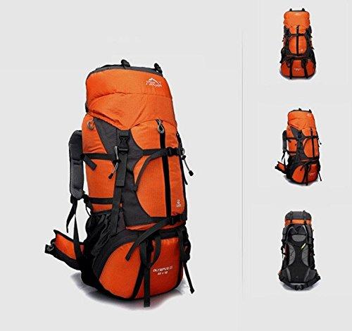 Professional outdoor wandern Rucksack Reise Tasche 80L Liter Rucksäcke Team Rucksack Orange