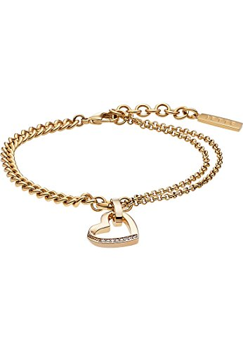 JETTE Magic Passion Damen-Armband Metall 7 Kristall One Size, gold