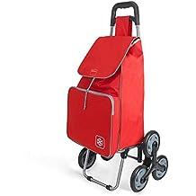 Metaltex Peony - Carro de Compra con 6 Ruedas, 48 Litros, Rojo