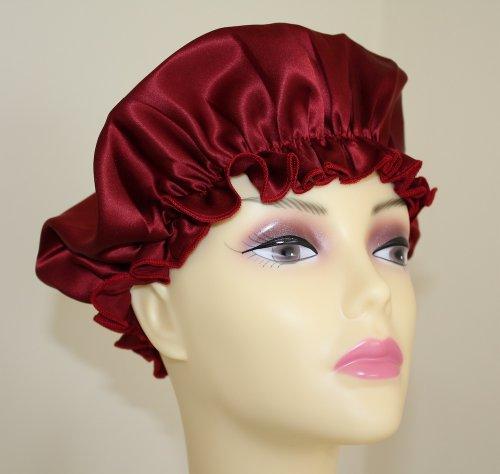 Jasmine Silk Bonnet de nuit en pure soie, rouge