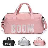 FEDUAN Boom Borsa Sportiva da Palestra da Viaggio con vano Scarponi Tasca bagnata alla Moda Impermeabile per UomoDonna Yoga Pilates Spiaggia Tempo Libero Sauna Shopping Weekender Vacanza Rosa Pink