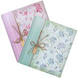 Lot de 2 Albums photo Traditionnel Garden 40 pages blanches