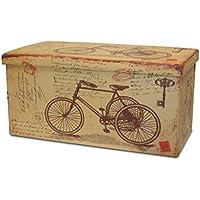 BUAR ARTESANOS Baul Puff Plegable para Almacenamiento Triciclo (80x40x40 cm.) - Muebles de Dormitorio precios