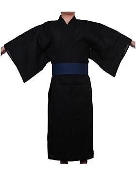 Kimono japonés de yukata japonés para hombres Vestido de pijamas de tocado español para el hogar # 04