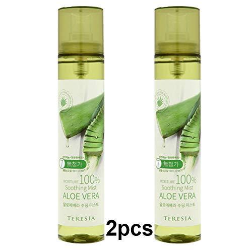 teresia 100 Percent Pure Aloe Vera apaisante Mist 120ml (4,1 oz) x 2Pcs
