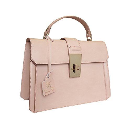 Anna-Cecere-Italian-Leather-Carina-Grab-Handbag-Wedding-Evening-Bag-Pink