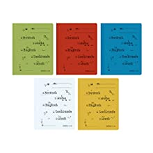 Herlitz School Pocket Printed 11253820 A4 for Primary School, Commercial and Official Filing, Pack of 5 Primary School