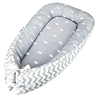 Luchild Multifunctional Baby Nest, Soft Sleeping Cribs Cuddle Pads, 100% Cotton Swaddling Wrap for Newborn & Babies