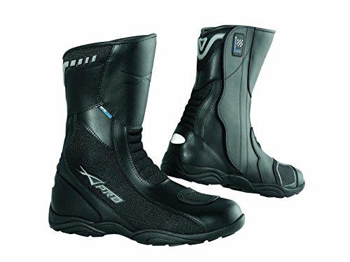 Wasserdicht und atmungsaktiv Stiefel Touring Sports Motorrad Leder Schwarz 44