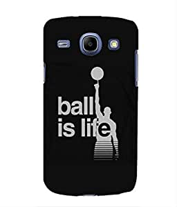 For Samsung Galaxy Core I8260 -Livingfill- Ball is life Printed Designer Slim Light Weight Cover Case For Samsung Galaxy Core I8260 (A Beautiful One of the Best Design with a Classic Theme & A Stylish, Trendy and Premium Appeal/Quality) (Red & Green & Black & Yellow & Other)