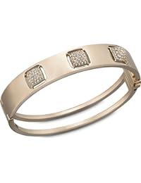 Swarovski Damen-Armreif Metall Tactic PVD Rose Gold Kristallpavé klar 5.8 x 5.2 cm 1179788