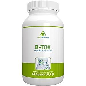 Green Nutrition B-Tox | Chlorella & Spirulina Pulver – 60 Kapseln | Vegan | 100% Natürlich