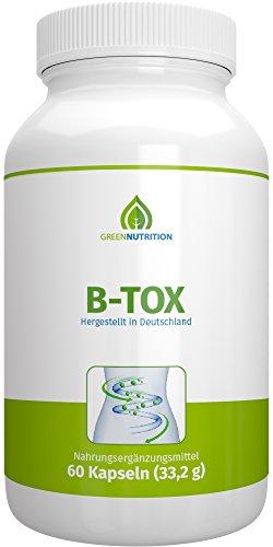 Green Nutrition B-Tox | Chlorella & Spirulina Pulver - 60 Kapseln | Vegan | 100% Natürlich