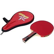 Docooler Set da Ping pong Lungo Tremolio della Mano Racchetta Ping Pong + Sacchetto Impermeabile
