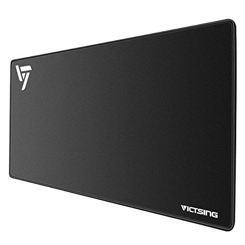 VicTsing Gaming und Office Mauspad(Größe:XXL), Large Mousepad strapazierfähig,mit Ultra-Glatte Oberfläche, rutschfest und wasserdicht für PC Laptop, Office,Home, für Gaming Maus und Tastatur- schwarz