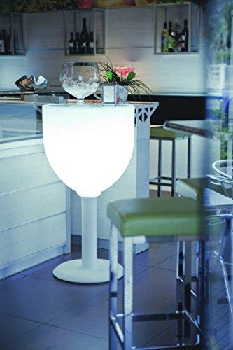 Modum Outdoor & Indoor Beleuchteter Stehtisch Wine in Italienischem Design/Bistrotisch/Bartisch/Gartentisch