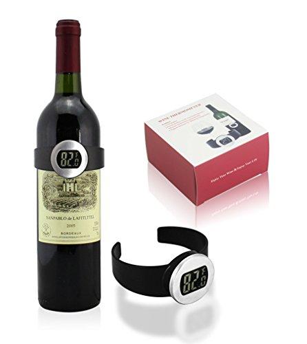 agemore® Best Wein Geschenk Zubehör für alle Wein-Liebhaber zu dienen Ihre Flaschen bei der richtigen Wein Temperatur und Geschenke Vier Ausgießer Wein-temperatur