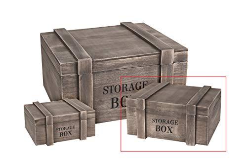 Kiste Holzkiste Schatzkiste Schatztruhe Holz Storage Box Holzkasten mit Deckel (Mittel) -