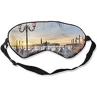 Schlafmaske aus Seide, venezianische Lagune, Italien, Adria, atmungsaktiv, weich, schützt die Augenmaske für Reisen... preisvergleich bei billige-tabletten.eu