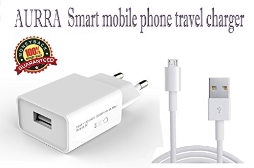 LG L 60i X137 Compatible Charger Adapter Genuine Original High Speed Certified Wall Charger / Travel Charger / Mobile Charger With 1 Meter Micro USB Cable By AURRA,(White),With 1 Usb Slots  available at amazon for Rs.279