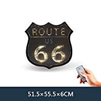 AGLKH Home decoration Loft American Retro Iron Mural LED Lamp Wall Cafe Bar Welcome Sign Home Furnishing Tin Painting Night Light Hanging Wall Lamps,Colored