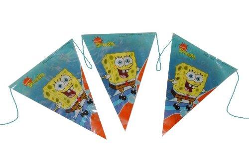 3,3 m Girlande Spongebob Schwammkopf Kinder Kindergarten Kindergeburtstag Party Deko Wimpelkette
