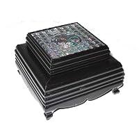 LED Base Socket de posavasos Negro 8 x 8 cm Asia cromo cambio ...