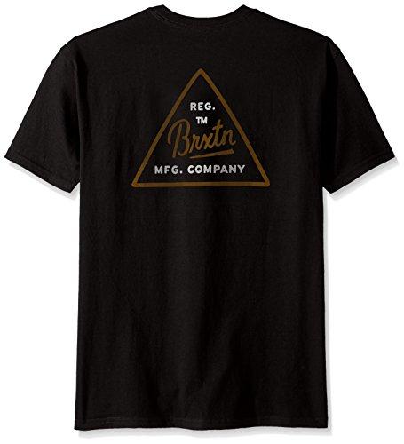 Brixton Herren T-shirt Cue Standard Black