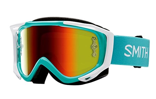 SMITH MX Goggle V2 SX Opal red mirror +gratis Extra Scheibe: clear