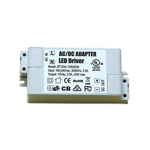 ADOGO LED Trafo 12V DC 24W Transformator Netzteil Überlastungsschutz Treiber für G4 MR11 MR16 Lampe Licht [Energieklasse A+] -