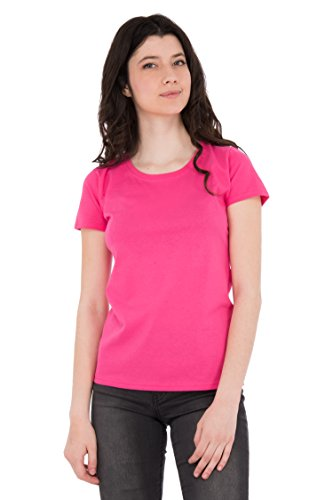Fruit of the Loom Damen T-Shirt Valueweight Lady Rosa (Pink 57)
