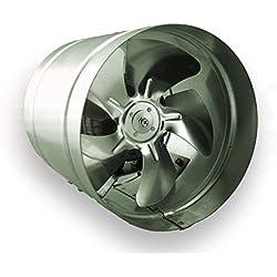 Conducto Inline 250mm fan de zinc de metal chapado en ARW la canalización extractor industrial