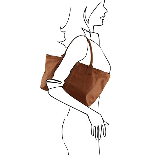 Tuscany Leather TL KeyLuck - Sac à épaule en cuir Noir Sacs à bandoulière en cuir Noir