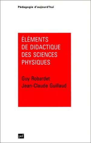 Éléments de didactique des sciences physiques