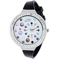Orologio Donna, Think Positive, Modello SE W91 Acciaio, Cinturino Di Silicone, Orologio Analogico Fashion, Nero Fantasia