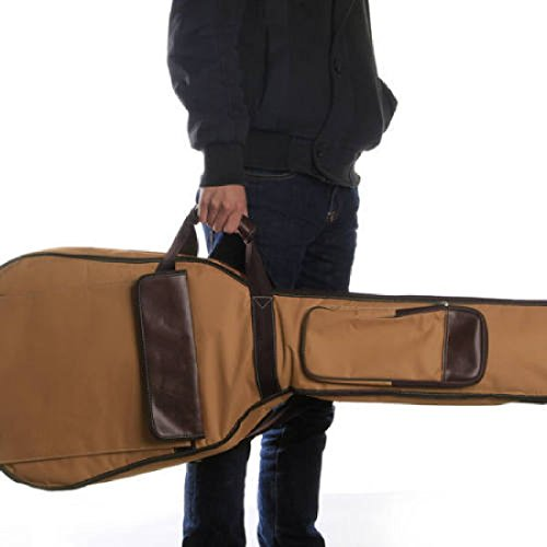 Imagen de correas de cabezal doble fijo pu canvas gig bag–funda acolchada para 40cm folk  acústica alternativa