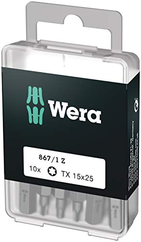 Wera Bit-Sortiment, 867/1 TX 15 DIY, TX 15 x 25 mm (10 Bits pro Box), 05072407001