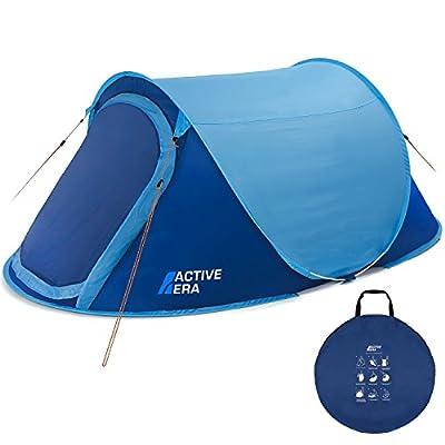 Active Era™ Zelt, groß, für 2 Personen, Pop-up-Zelt, Wurfzelt, wasserfest, belüftet und haltbar