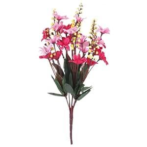 1 Mazzetto Falso Margherita Fiore Artificiale Bouquet Di Home Office Decorazione - Rosa Rossa E Rosa