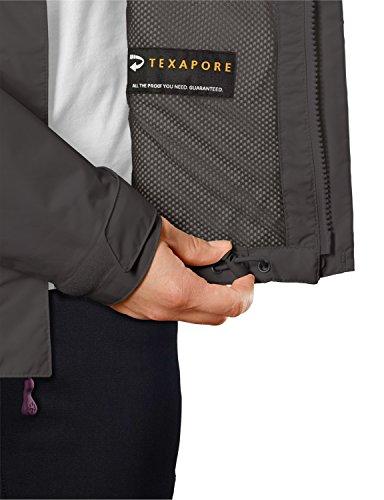 Jack wolfskin texapore supercell jKT veste imperméable pour femme Gris - Acier foncé