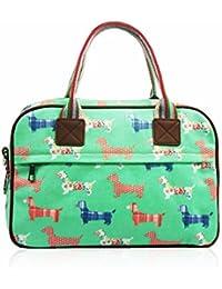 SALE Sausage Dog Designer Style Matte Canvas Overnight Bag