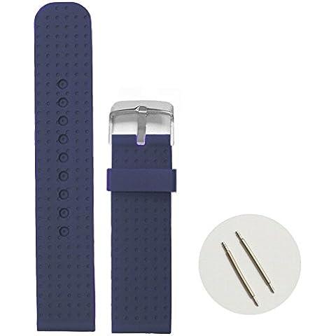 20 mm, colore: blu Navy, in Silicone, con cinghie in gomma WB1053T20JB-Orologio (Cinghia Della Gomma Di Silicone)