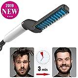 Miji Barba Que endereza el Peine Cepillo Multifuncional rápido para Hombres (1 Paquete) (1 Paquete)