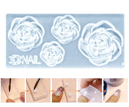1pc Transparent Rose Blume 3D Mini-Silikon-Form Für Nail-Art-Kleine Diy-Resin-Form FIMO Miniatur-Feen-Garten-Puppenhaus 40mm