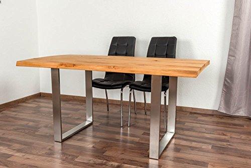 Esstisch Wooden Nature 414 Buche massiv geölt, Tischplatte rustikal - 160 x 90 cm (B x T)